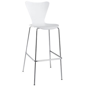 Uptown Bar Stool in White