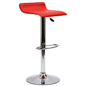 Uptown Bar Stool in Red