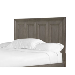 Afton Driftwood Queen Panel Bed Headboard