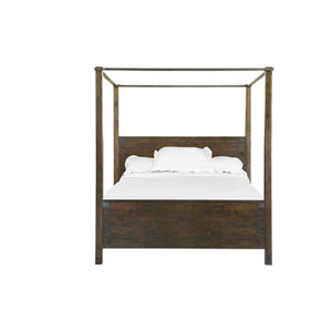 Fulton Rustic Pine Queen Poster Bed
