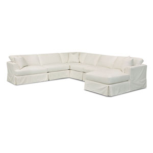 Quinn Beige Slipcovered Sectional