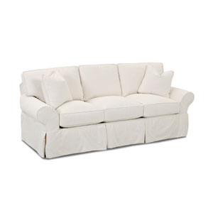 Grace Beige Slipcovered Sofa