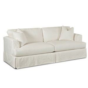 Quinn White Slipcovered Sofa