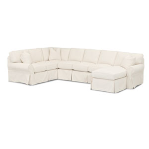 Grace Beige Slipcovered Sectional