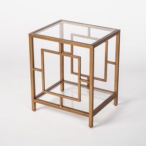 Linden Gold End Table