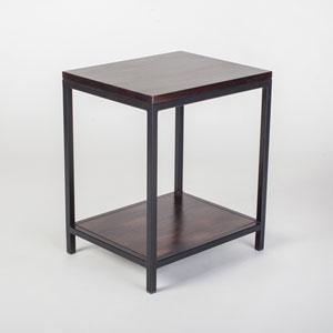 Fulton Brown Industrial End Table