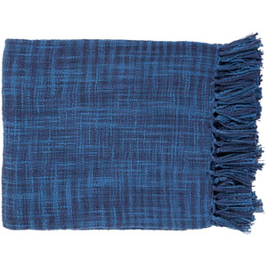 Afton Dark Blue and Navy Throw