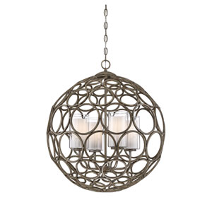 Isles Chateau Linen Four-Light Globe Pendant