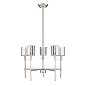 Nicollet Polished Nickel Five-Light Chandelier