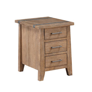 Afton Driftwood Chairside Table