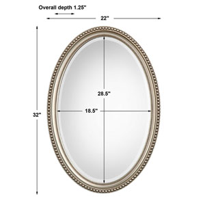 Wellington Silver Oval Mirror