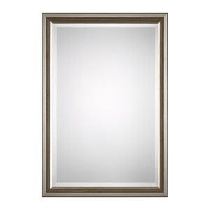 Evelyn Silver Triple Beaded Mirror