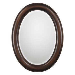 Evelyn Bronze Oval Mirror