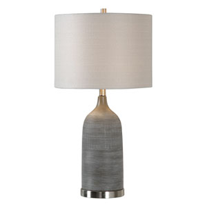 Nicollet Olive Bronze Ceramic Table Lamp
