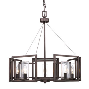 Linden Bronze Five-Light Chandelier