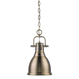 Quinn Aged Brass One-Light Mini Pendant