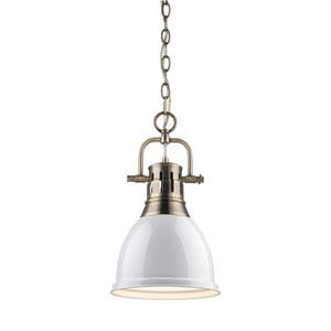 Quinn Aged Brass 9-Inch One Light Mini Pendant