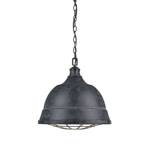 Fulton Black Patina Two-Light Cage Pendant