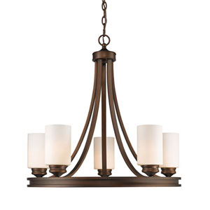 Evelyn Sovereign Bronze Five-Light Chandelier