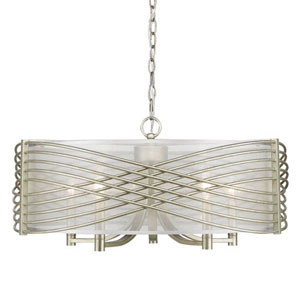 Vivian White Gold Five-Light Pendant