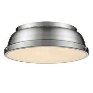 Quinn Pewter Two-Light Flush Mount
