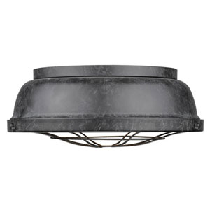 Fulton Black Patina Two-Light Cage Flush Mount