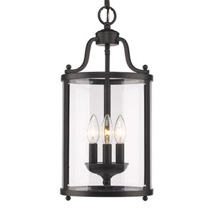 Evelyn Black Three-Light Mini Pendant