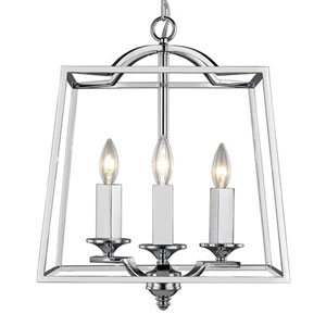 Isles Chrome Three-Light Pendant