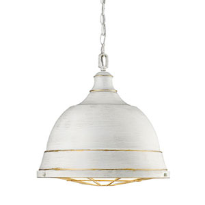 Fulton French White Two-Light Pendant with French White Shades