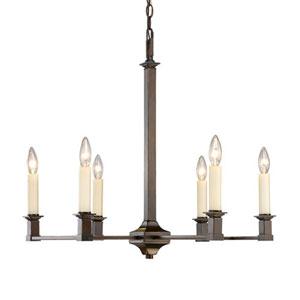 Wellington Cordoban Bronze Six-Light Chandelier