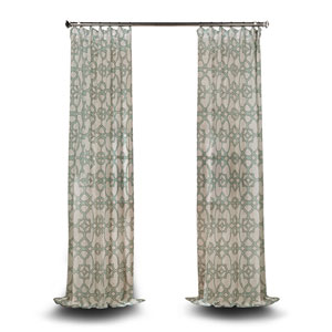 Aiden Gray  Inch Printed Cotton Curtain Single Panel