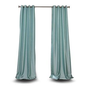 Monroe Light Blue 120 x 50-Inch Grommet Blackout Faux Silk Taffeta Curtain Single Panel