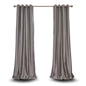 Monroe Platinum 84 x 50-Inch Grommet Blackout Faux Silk Taffeta Curtain Single Panel