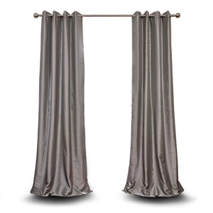 Monroe Platinum 96 x 50-Inch Grommet Blackout Faux Silk Taffeta Curtain Single Panel