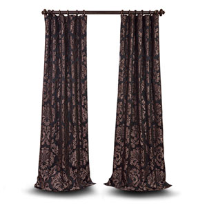 Wellington Black 84 x 50-Inch Jacquard Curtain