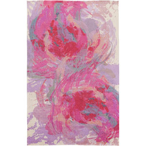 Monroe Hot Pink and Lavender Rectangular: 5 Ft x 7 Ft 6 In Rug