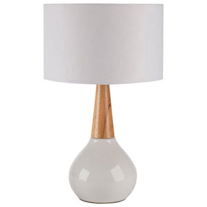 Loring White 19-Inch One-Light Table Lamp