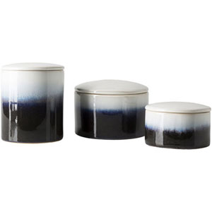 Linden Navy and White Jar Set