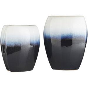 Linden Navy and White Vase Set