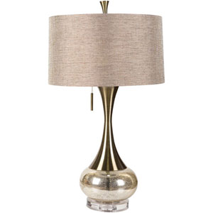 Linden Silver Two Light Table Lamp