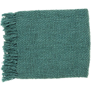 Aster Teal 51 x 71-Inch Throw