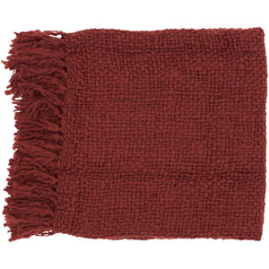 Aster Burgundy 51 x 71-Inch Throw