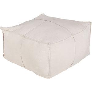 Nicollet Khaki Solid Linen Cube Pouf