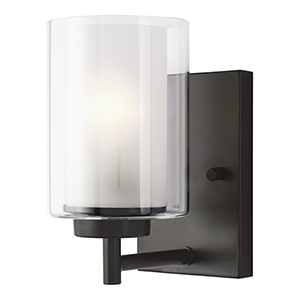 Uptown Bronze One-Light Energy Star Wall Sconce