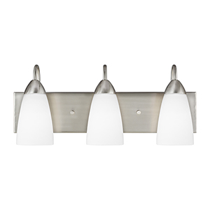 Nora Brushed Nickel 21-Inch Three-Light Bath Vanity