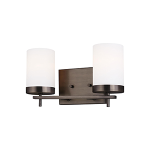 Loring Brushed Oil Rubbed Bronze Two-Light Wall Sconce