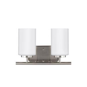 Pax Brushed Nickel 12.5-Inch Two-Light Bath Light