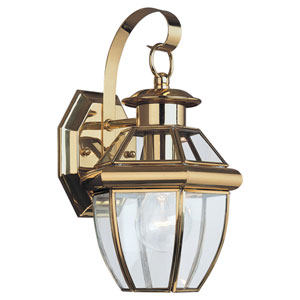 Oxford Brass One-Light Outdoor Wall Mount