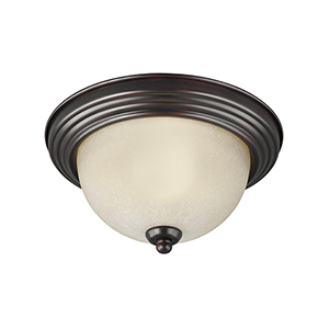James Sienna 15-Inch LED Flush Mount with Amber Scavo Glass