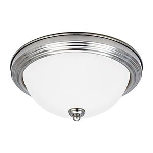 James Brushed Nickel 15-Inch LED Flush Mount
